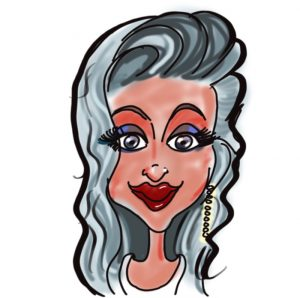Caricature of Lorena Watson, Kingsley Roofing admin team
